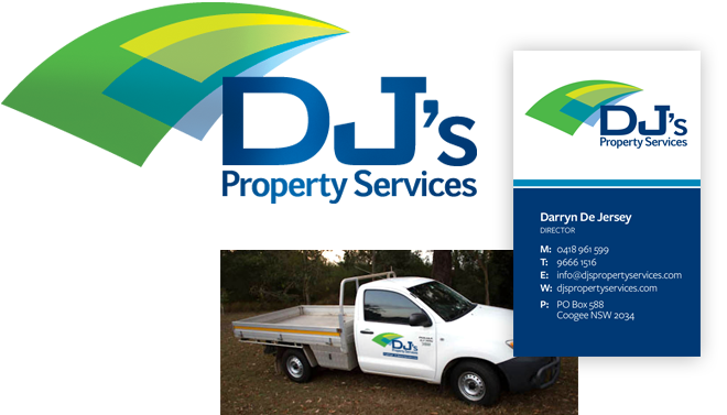 DJ's Property Services Branding